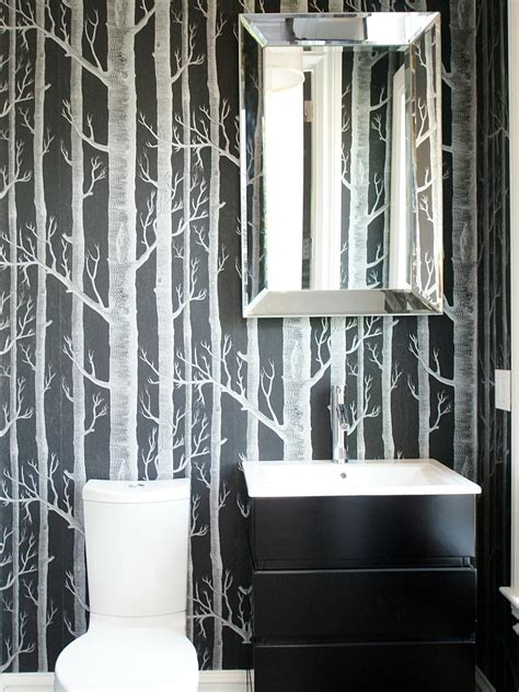 designer bathroom wallpaper photos hgtv