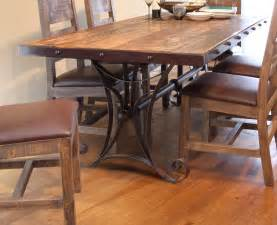 antique multicolor 79 quot dining table with iron base
