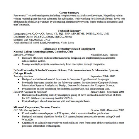 51 new image of software engineer resume format for experienced
