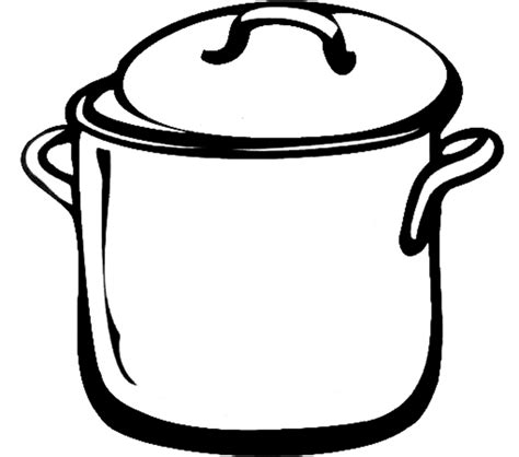 Cooking Pot Coloring Coloring Pages