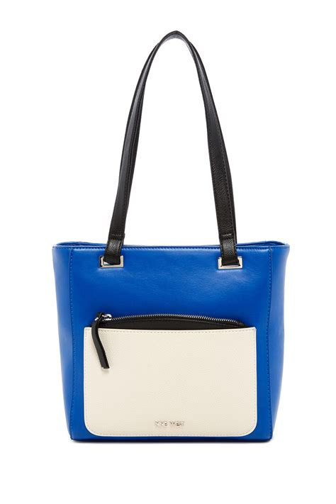 Nine Wests Blue Savona Leather by Nine West Horina Faux Leather Tote Nordstrom Rack