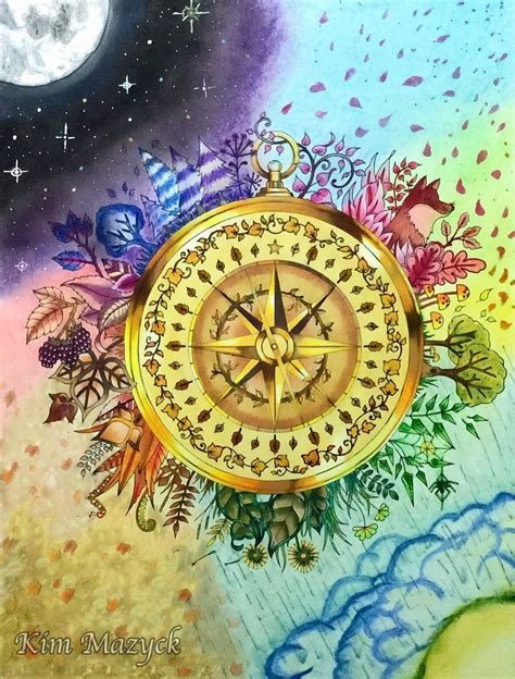 enchanted forest colored coloring book enchanted forest compass colored with