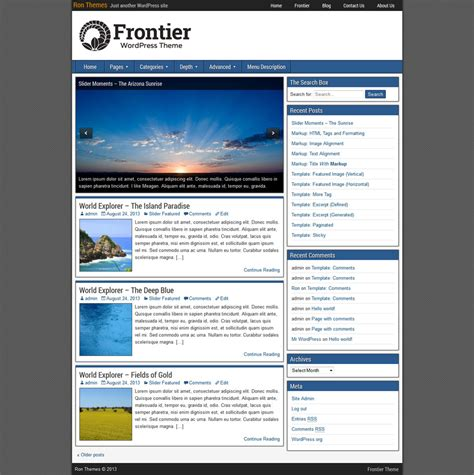 frontier images