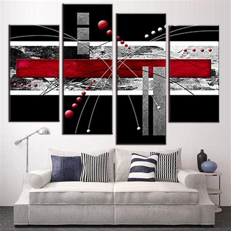 wall decor sports set of 4 canvas art sports room decor 4 pcs set canvas wall art picture red black grey combined