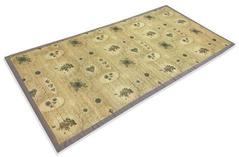 tappeto bamboo tappeto cucina in legno bamboo shabby bouquet beige misura