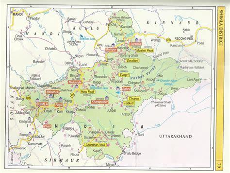 tourist map of himachal pradesh tourist maps himachal pradesh travel guide