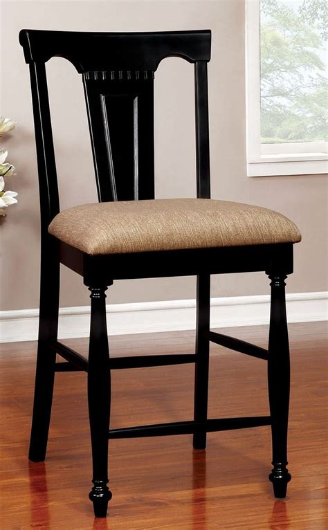 cherry black counter height dining room set