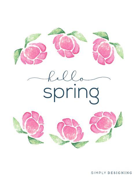 printable spring quotes spring printable free hello spring design darice