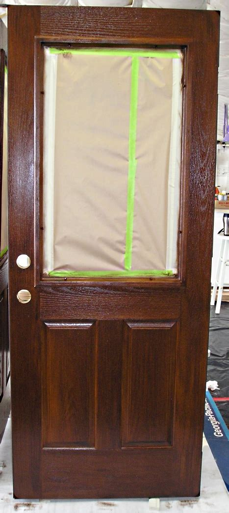 Paint Or Stain Fiberglass Exterior Doors Staining A Fiberglass Door The Practical House Painting Guide