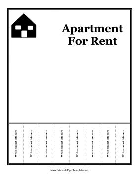 for rent flyers templates apartment for rent flyer