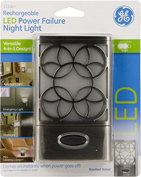 power failure night light ge rechargeable led power failure night light 4 in 1