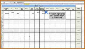 Bill Budget Template 7 Monthly Bill Spreadsheet Appeal Letters Sample