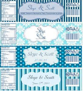 Free Bridal Shower Water Bottle Label Template Water Bottle Labels Now With Templates Wedding Blue