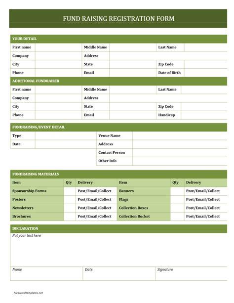 printable registration form templates word excel samples