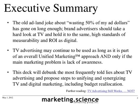 what should be in the summary of a resume lies about tv advertising by augustine fou