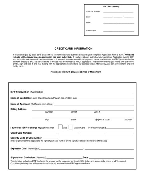 credit card form template pdf credit card information form 2 free templates in pdf