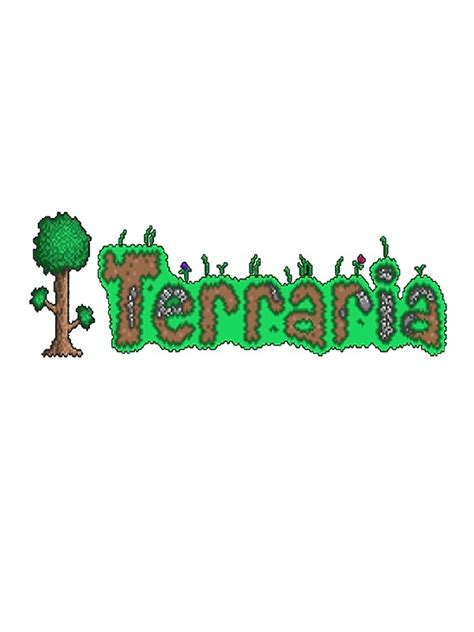 Christmas Wall Art Stickers quot terraria logo quot stickers by kelhagen redbubble