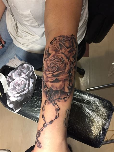 rose and beads tattoo 1000 ideas about rosary bead on rosary