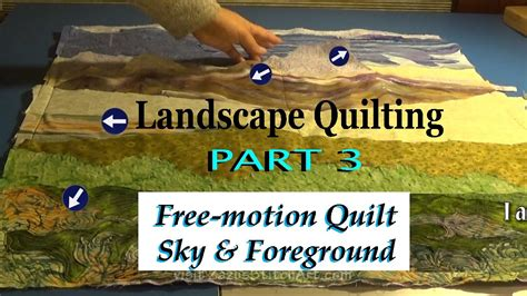 Free Motion Quilting Tutorial Youtube | free motion quilt sky foreground part 3 landscape