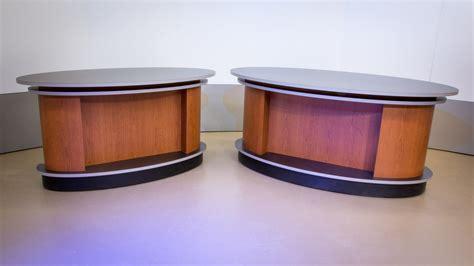 Anchor Desk by Our Elliptic News Desk For Tv Studio Designs