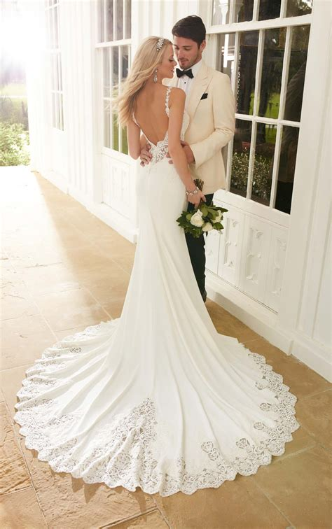 wedding dresses backless sheath wedding dress martina
