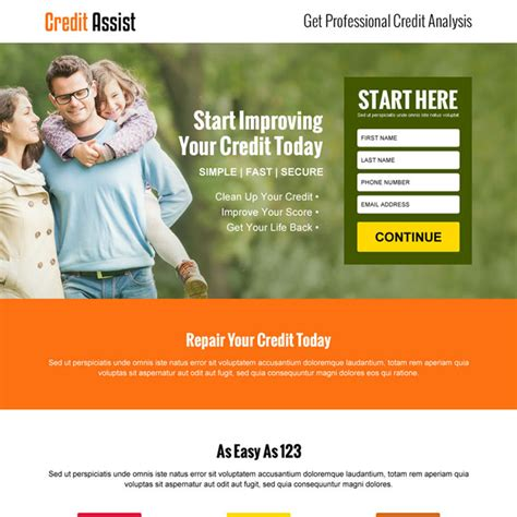 Credit Repair Business Website Template Credit Repair Website Templates Keyadvertising