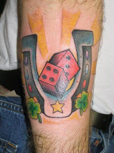 lucky horseshoe tattoo lucky horseshoe and dice tattooimages biz