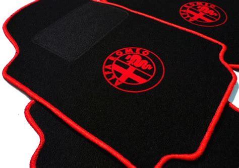 Alfa Romeo 159 Mats by Alfa Romeo 75 Floor Mat Set Black Logo Trim