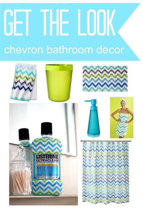 chevron bathroom ideas chevron bathroom decor made easy with exclusive listerine