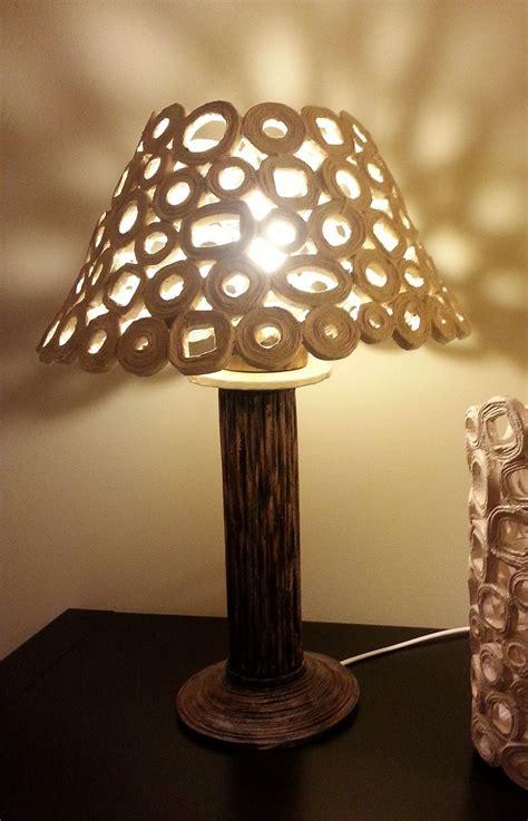 illuminazione fai da te lada da tavolo paralume con carta da riciclo cose di