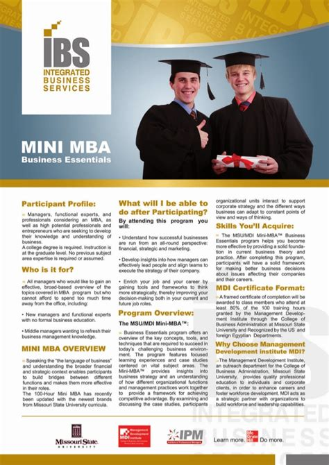 Mini Mba Uk by Ibsemea Mini Mba