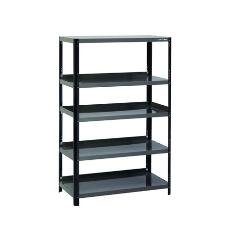 craftsman 48 quot wide steel shelving unit black platinum