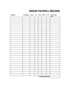 Payroll Record Template by Excel Templates