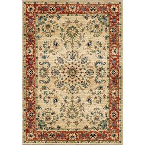 orian rugs carolina collection orian rugs twisted tradition bone 5 ft 3 in x 7 ft 6 in indoor area rug 318234 the home depot
