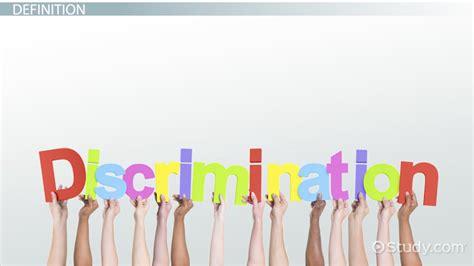 what is discrimination definition exles lesson transcript study
