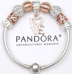 Authentic Pandora Bracelet Bangle Wife Rose Gold Czech LOVE European Charms New   eBay