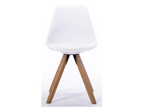 chaise foxtrot coloris blanc vente de chaise conforama