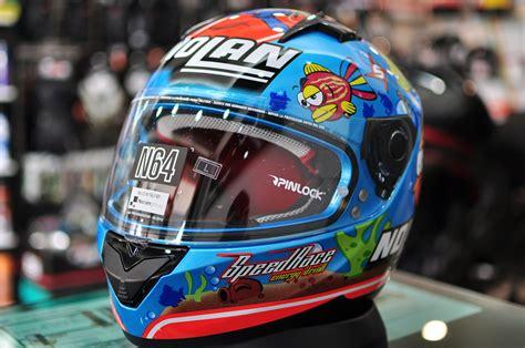 jual helm nolan n64 melandri aquarium blue fullface n 64 fish helmet bekasi custom