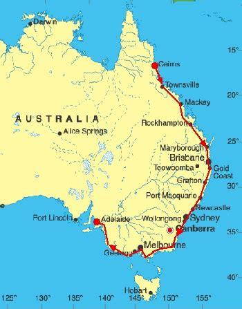 map of australia east coast detailed road trip memoirs of east coast australia images frompo