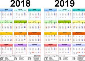 Kalender 2018 Und 2019 Zweijahreskalender 2018 2019 Als Pdf Vorlagen Zum Ausdrucken