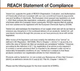 Reach Certification Letter Reach Definition What Is Reach Find Reach Companies On Thomasnet Com 174 Certification Search