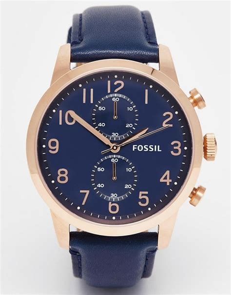 Fossil Townsman Blue fossil fossil townsman blue leather fs4933
