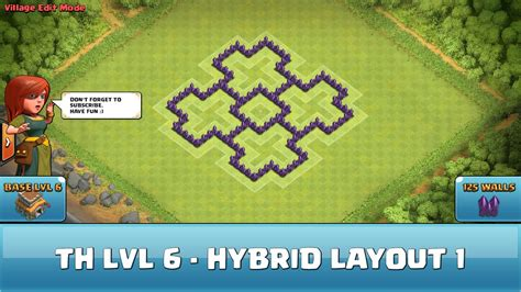 best wall pattern clash of clans clash of clans fun wall art th6 hybrid layout 1 youtube