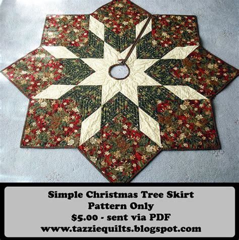 quilted christmas tree skirt pattern by tazziequilts on etsy