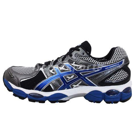 14 wide shoes asics gel nimbus 14 4e wide silver blue mens cushion