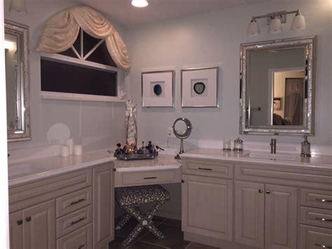 Corner Makeup Vanities by Master Bathroom Corner Vanity Makeup Desk