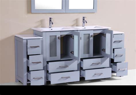 bathroom newport 72 quot newport gray double modern bathroom vanity with 2 side