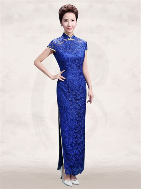 Mandarin Collar Sleeve Dress mandarin collar cap sleeve blue lace sheath