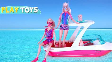 barbie boat video barbie ken sea adventure play barbie doll boat ride