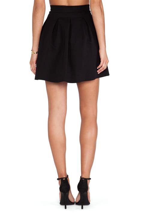 dolan pleated skater skirt in black lyst